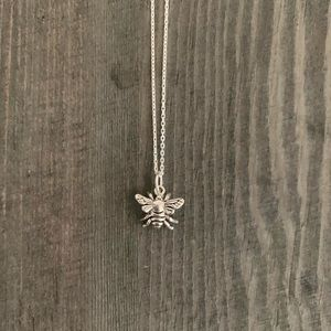 Jewelry - Bee Necklace, Bee Sterling Silver Necklace